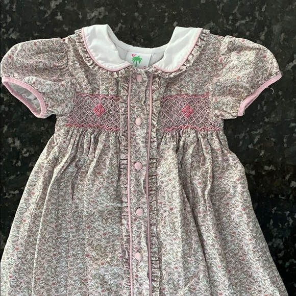 NWT Gymboree Pretty Lady Pink Smocked Embroidery Tank Dress Sizes 5 6 or 7 New